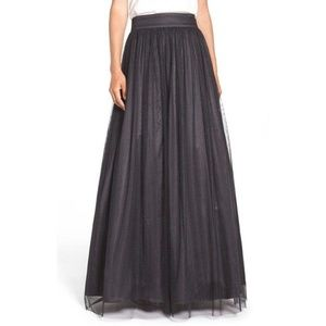 Eliza J NWOT Black Glitter Tulle Ball Skirt